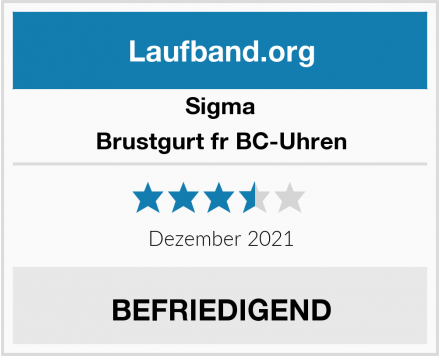 Sigma Brustgurt fr BC-Uhren Test