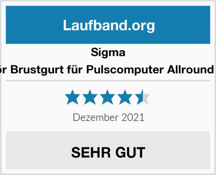 Sigma Zubehör Brustgurt für Pulscomputer Allround I plus Ii Test