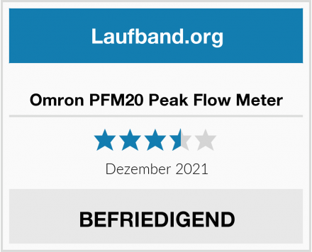 Omron PFM20 Peak Flow Meter Test
