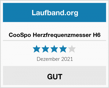 CooSpo Herzfrequenzmesser H6 Test
