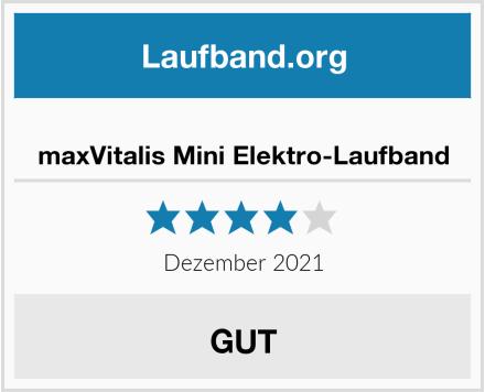maxVitalis Mini Elektro-Laufband Test