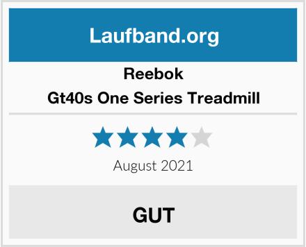 Reebok Gt40s One Series Treadmill Test