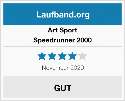 Art Sport Speedrunner 2000 Test