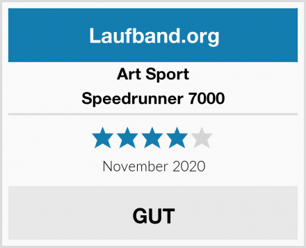 Art Sport Speedrunner 7000 Test