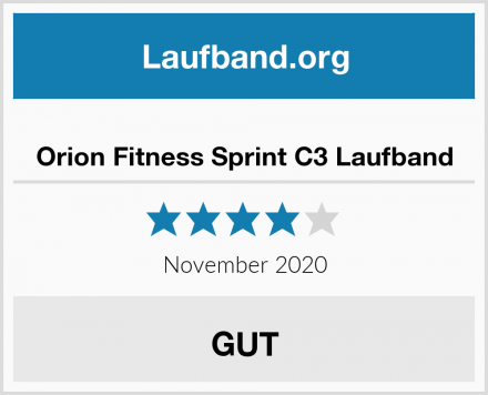 Orion Fitness Sprint C3 Laufband Test