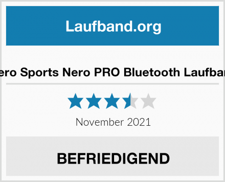 Nero Sports Nero PRO Bluetooth Laufband Test